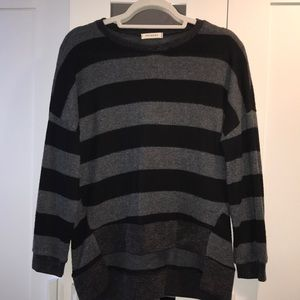 Promesa Striped Black and Grey Sweater